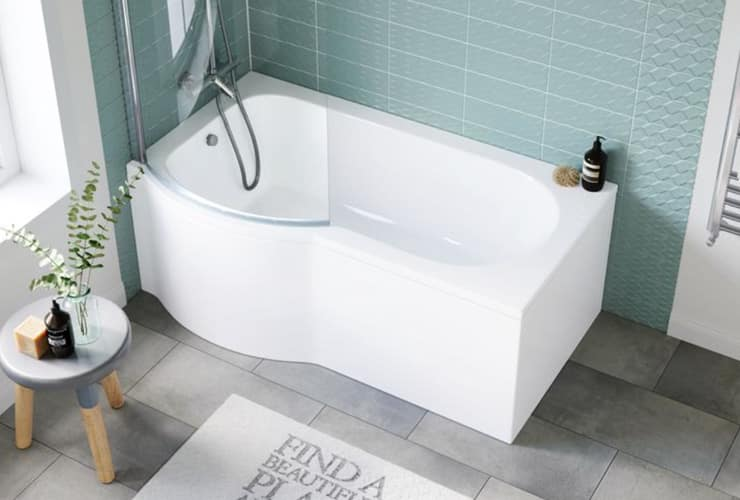 A P-Shaped Bathtub.