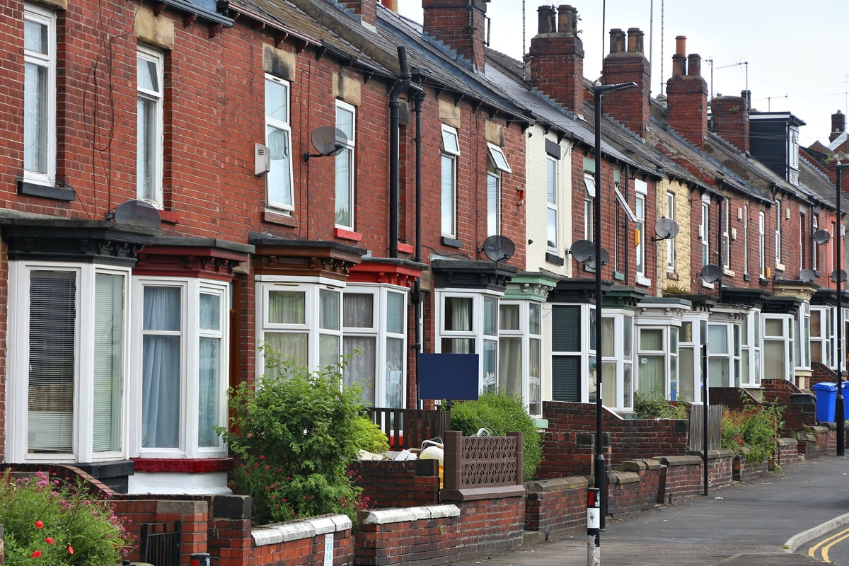 A Typical Residential Street in Sheffield.