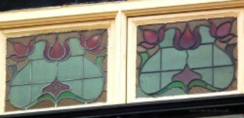 Edwardian houses glass