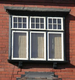 Edwardian houses projecting casement