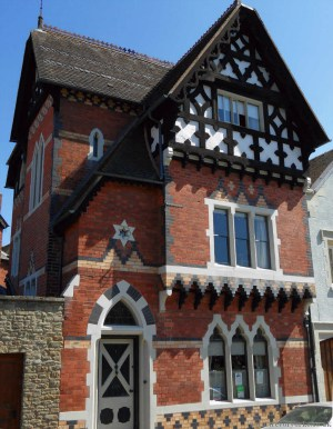 Gothic style house front