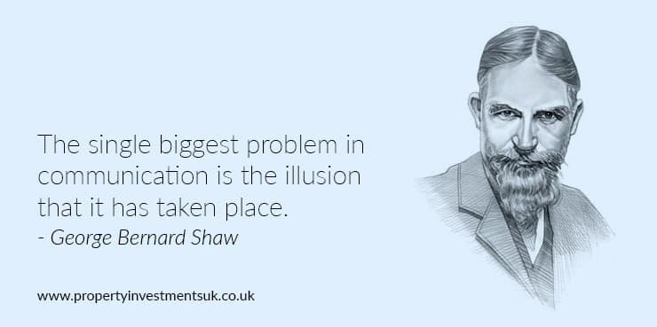 George Bernard Shaw quote on communication