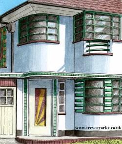 small - 1930s Art Deco style semi