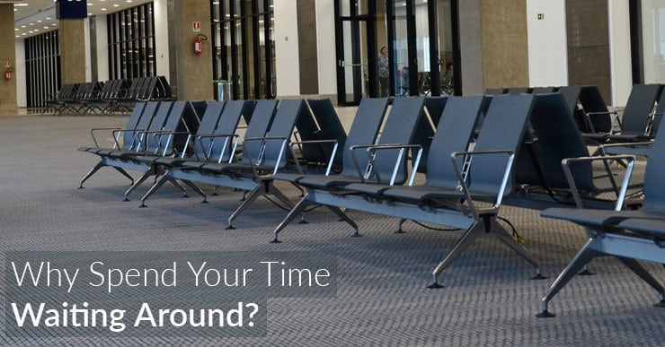 Airport waiting room. Why spend your time waiting around?